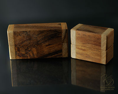 The Art of Packaging, custom wood ring boxes by Kaelin Design