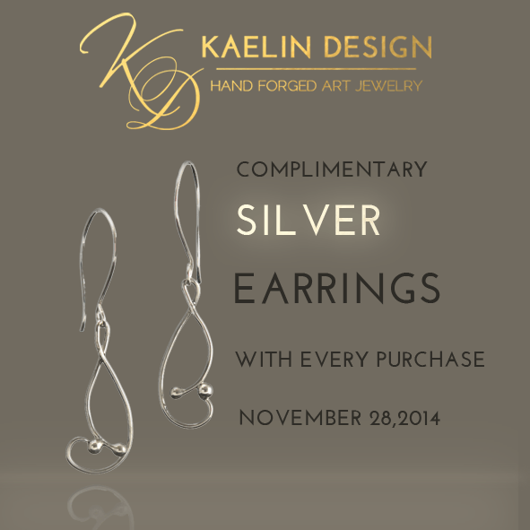 Complimentary Earrings for Black Friday
