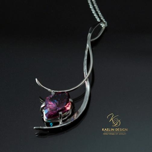 Phoenix Ember pink topaz pendant by Kaelin Design