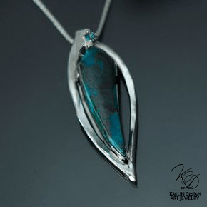 Water's Flame Chrysocolla pendant by Kaelin Design