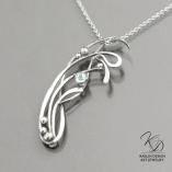 Breakwater Fine Art Jewelry Blue Topaz Pendant by Kaelin Design