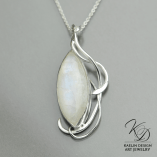 Moonrise Silver and Moonstone pendant