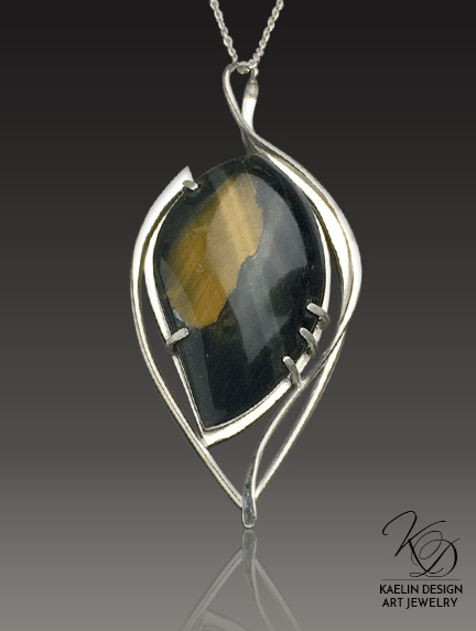 Take Flight Tiger's Eye Fine Art Pendant by Kaelin Design
