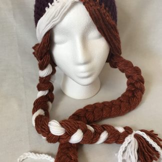 Anna princess inspired crochet hat