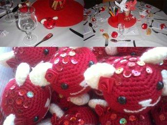 Cupcake bear pour la déco de la table des enfants pour le mariage d'un de mes cousins. Thème rouge & blanc.