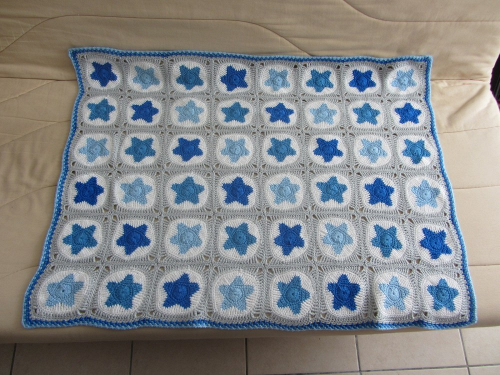 Couverture Etoiles / All star Baby Blanket (4/6)