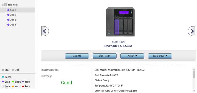 ลองดูฮาร์ดดิสก์ใน NAS ของผม ตัว 6TB มันเห็นเป็น 5.46TB ครับ
