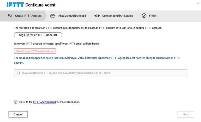 เริ่มขั้นตอนแรกคือการผูกบัญชี IFTTT ของเราเข้ากับแอป IFTTT agent