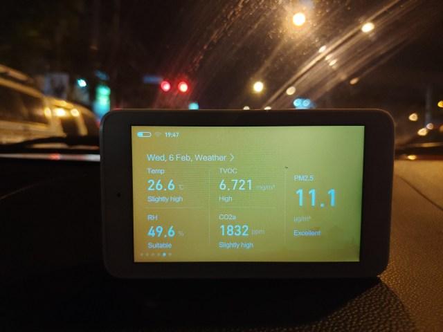 ภายในรถ ค่า PM2.5 ต่ำมากครับ แต่ที่สูงจริงๆ คือ TVOC กับ คาร์บอนไดออกไซด์ จ้า
