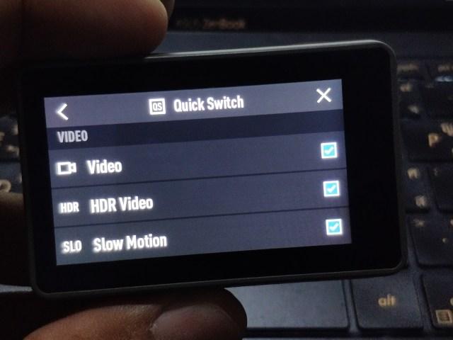 หน้าจอการตั้งค่าฟีเจอร์ Quick Switch
