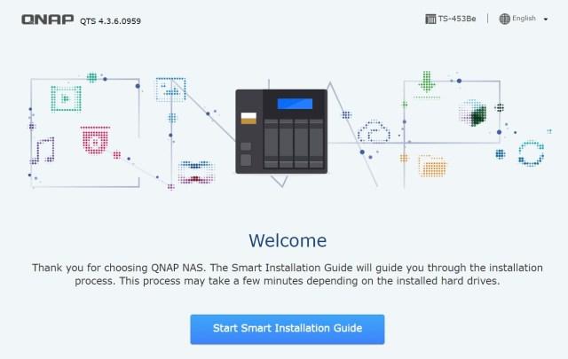 หน้าจอ Smart Installation Guide ของ QNAP ช่วยให้การติดตั้ง NAS เป็นเรื่องง่าย