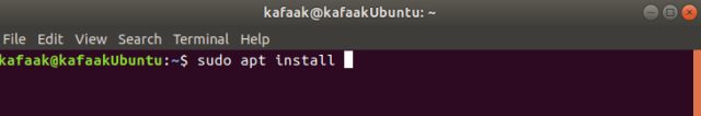 การติดตั้งโปรแกรมผ่าน Terminal