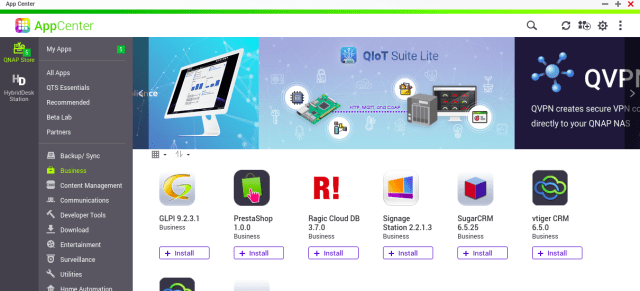App Center ของ QNAP NAS