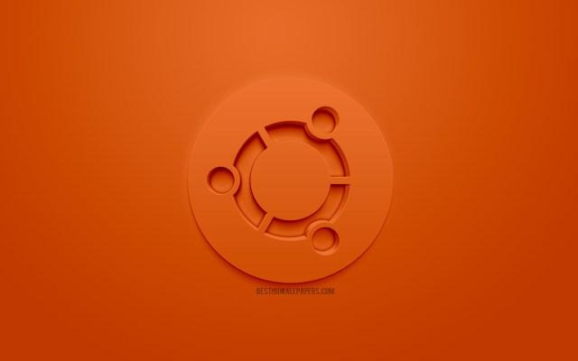 โลโก้ Ubuntu Linux สีส้ม