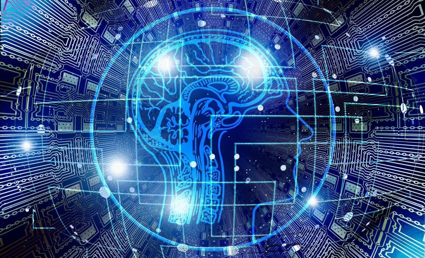 ภาพกราฟิกของวงจรไฟฟ้า และศีรษะของมนุษย์ ที่แสดงระบบสมองและระบบประสาท