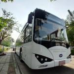 รถเมล์ไฟฟ้า BYD K9 ของ Loxley สีขาว