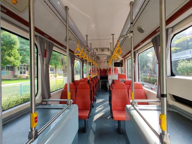 สภาพภายในรถเมล์ไฟฟ้า BYD K9