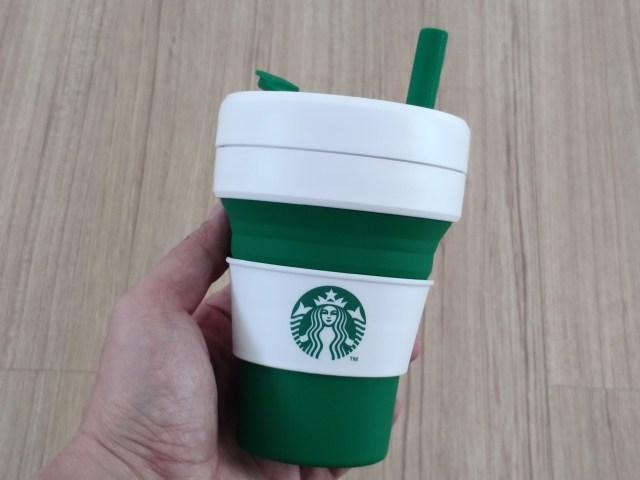 แก้ว Starbucks x Stojo สีเขียว พร้อมหลอดซิลิโคน