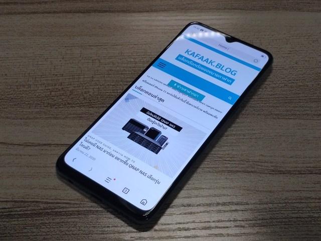 สมาร์ทโฟน OPPO A91 กำลังเปิดเว็บไซต์ kafaak.blog อยู่
