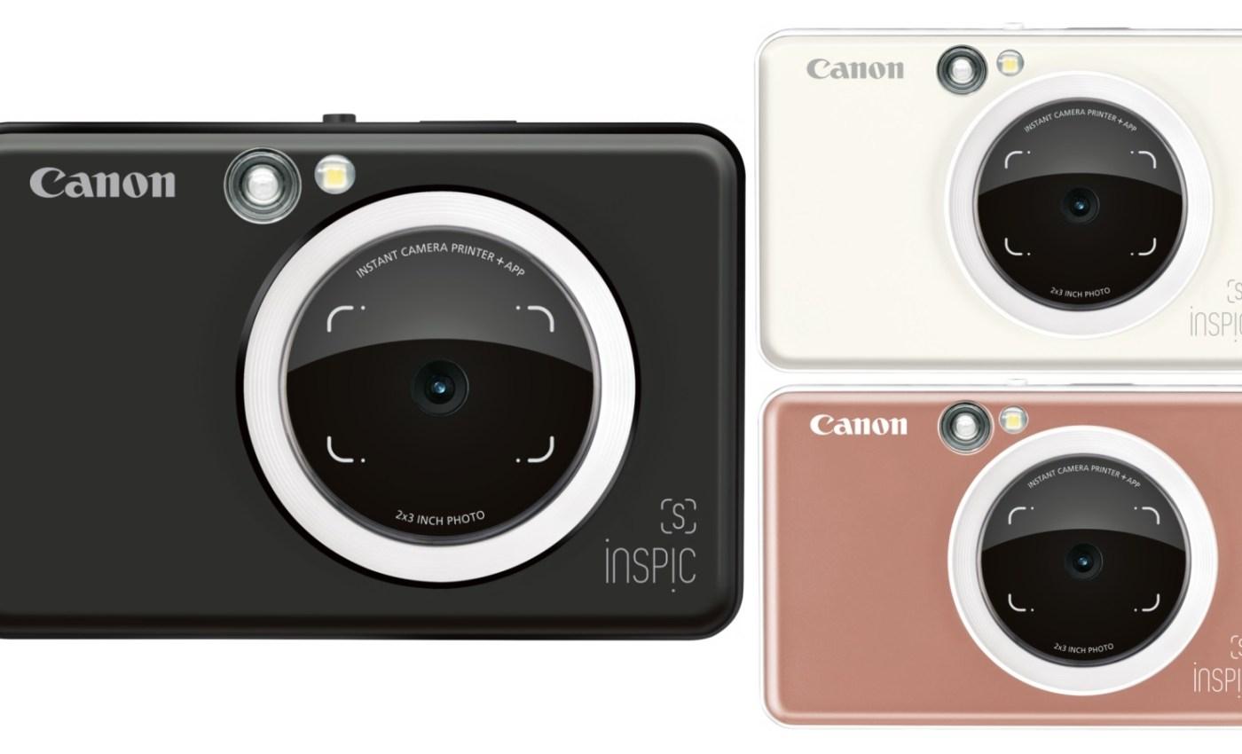 กล้อง Canon Inspic S สามสีที่มีจำหน่าย คือ สีดำ สีขาว และสีทองกุหลาบ (Rose gold)