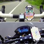 ตัวอย่างการใช้งาน Choetech smartphone holder กับจักรยาน และมอเตอร์ไซค์