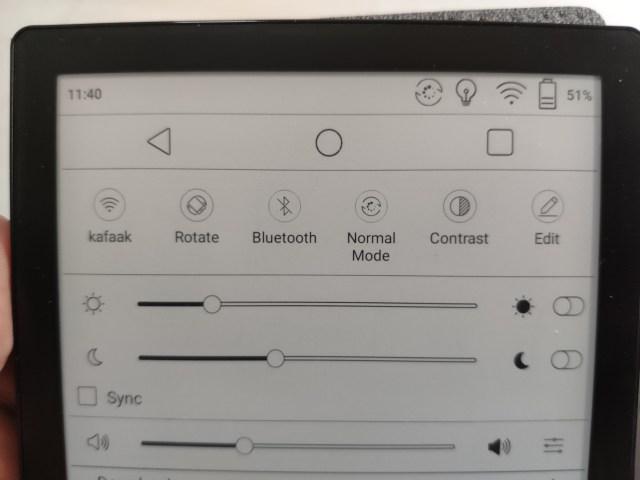 Toolbar แบบใหม่ของ BOOX POKE 2 มีปุ่ม Back, Home และ Recent apps