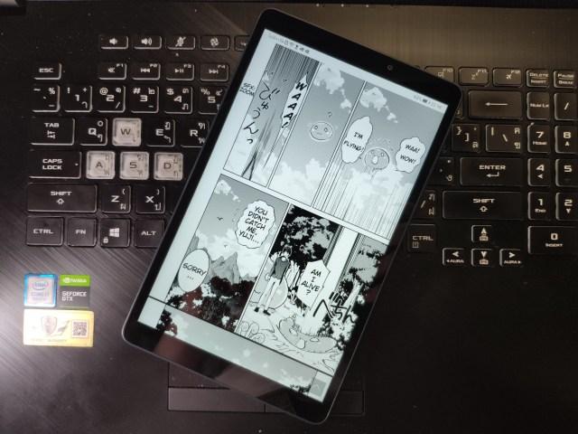 Huawei MediaPad T 8.0 กำลังเปิดดูการ์ตูนออนไลน์อยู่