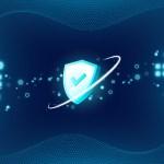 ภาพกราฟิก เป็นรูปโล่สีฟ้าที่มีเครื่องหมายถูกตรงกลาง เป็นสัญลักษณ์แสดงถึงความปลอดภัย