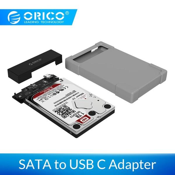 """ตัวอย่างกล่องใส่ฮาร์ดดิสก์ 2.5"""" ของ Orico แบบ USB-C"""