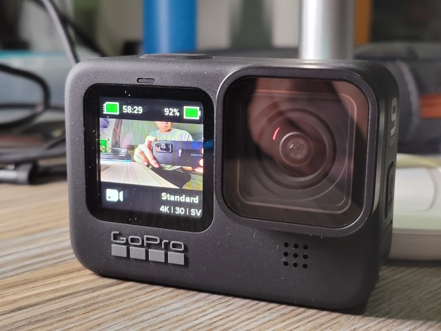 GoPro HERO9 Black ถ่ายให้เห็นจอแสดงผลขนาด 1.4 นิ้ว ด้านหน้า