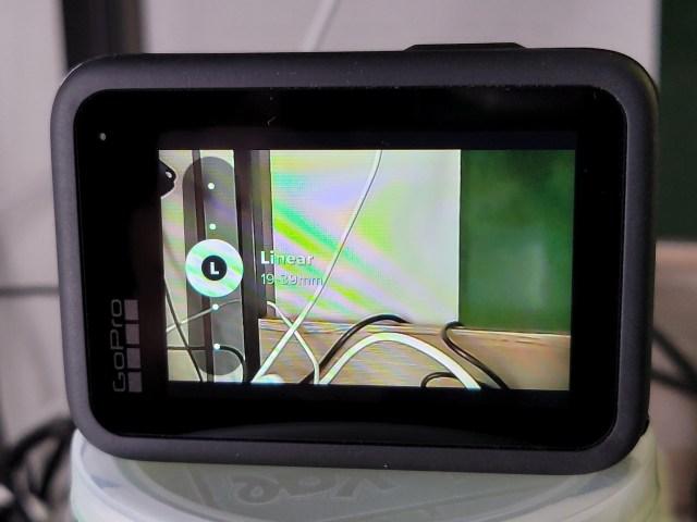 หน้าจอการตั้งค่าระยะโฟกัสของกล้องในโหมดถ่ายวิดีโอของ GoPro HERO9 Black