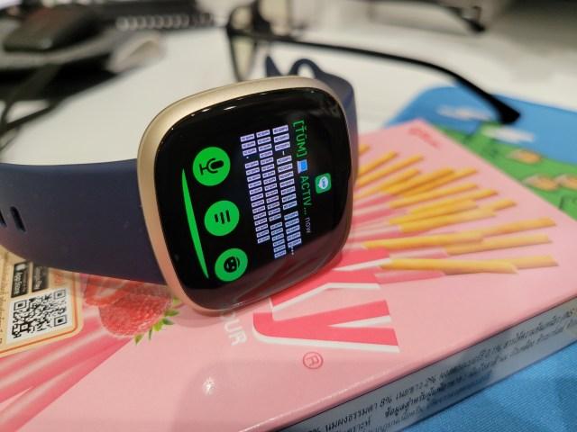 การแจ้งเตือนของ Fitbit Versa 3 ยังไม่รองรับการแสดงผลภาษาไทย มันจะแสดงผลออกมาเป็นตัวอักษรสี่เหลี่ยม