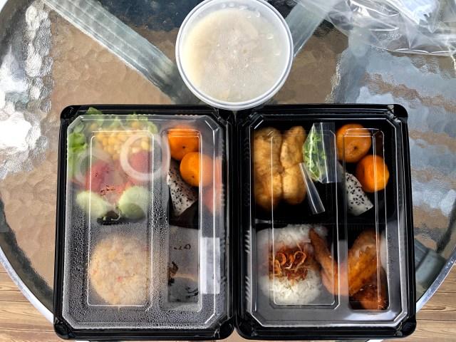ตัวอย่างอาหารเช้าของโรงแรม