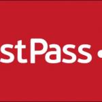 โลโก้ LastPass สีขาวบนพื้นหลังสีแดง
