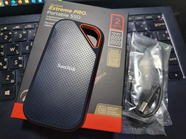 แพ็กเกจของ SanDisk Extreme PRO SSD V2 2TB