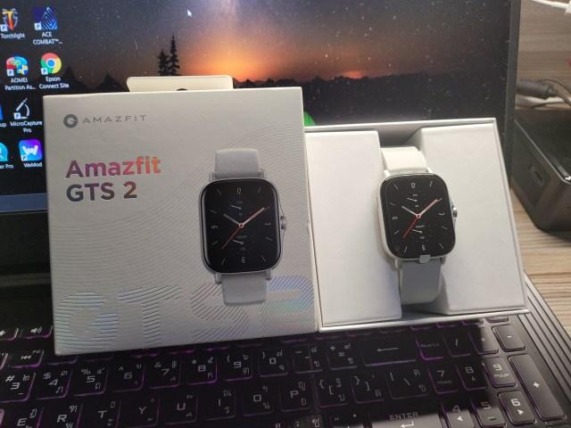สมาร์ทวอทช์ Amazfit GTS 2 และกล่องใส่