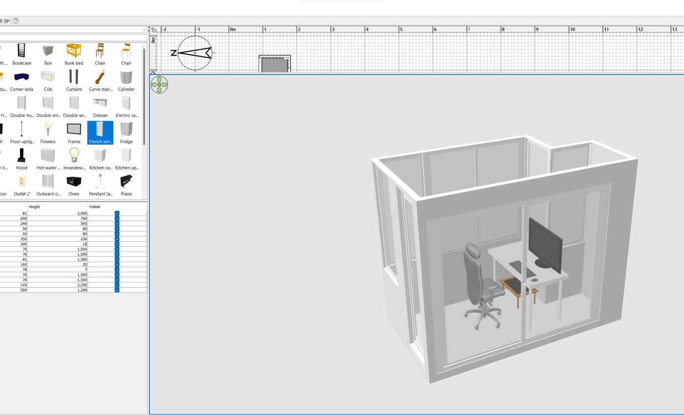 โปรแกรม Sweet Home 3D