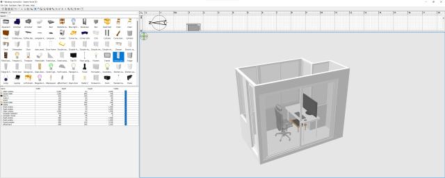 หน้าจอเต็มๆ ของโปรแกรม Sweet Home 3D