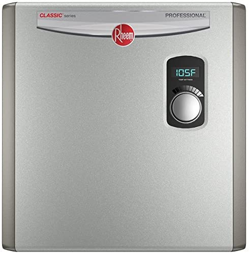 Rheem 240V 3 Heating Chambers RTEX-27 Residential Tankless Water Heater, GRAY