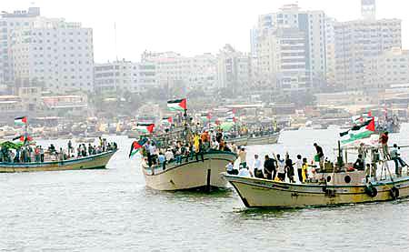Two boats of seafaring activists reach Gaza shore