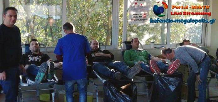 Ευχαριστήριο για την εθελοντική αιμοδοσία στην ΔΕΗ Μεγαλόπολης