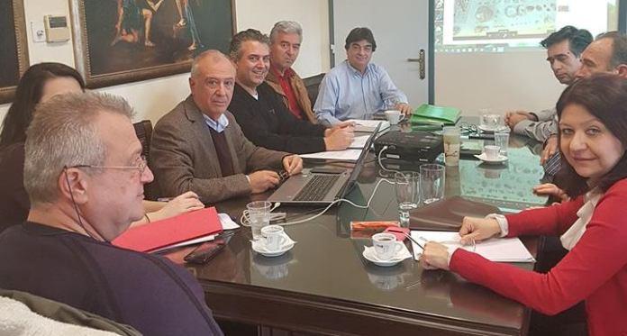Συνάντηση εργασίας για το έργο του Παλαιοντολογικού Μουσείου Ισιώματος Καρυών