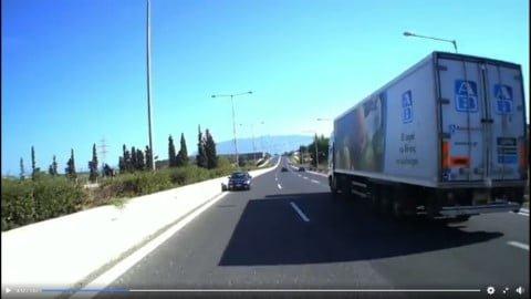 Οδηγός έτρεχε στο αντίθετο ρεύμα στην Ε.Ο. Κορίνθου – Τρίπολης (video)