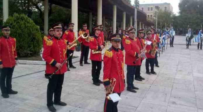 Η Φιλαρμονική Μεγαλόπολης στον εορτασμό της 28ης Οκτωβρίου