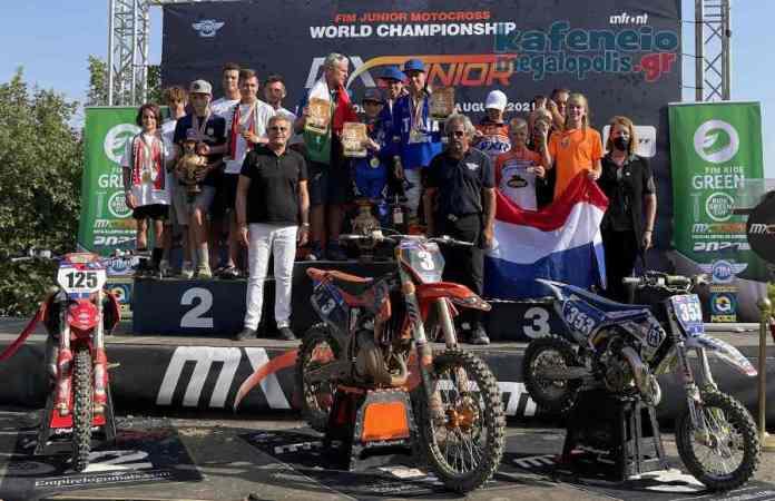 Απονομές επάθλων Παγκόσμιου Πρωταθλήματος JuniorMX 2021 Μεγαλόπολης (video-photo)