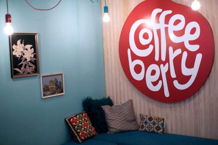 Bilde fra interiør i kaffebaren Coffeeberry