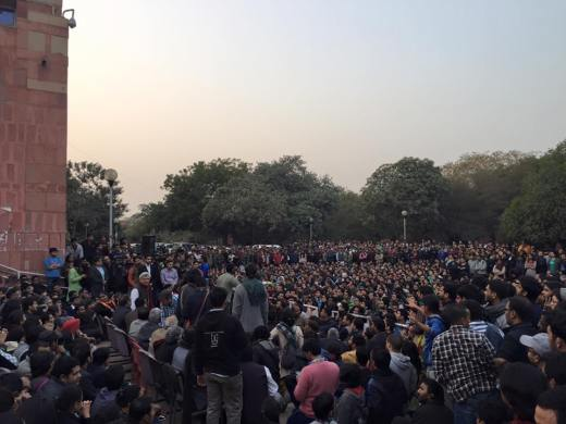 Public Meeting, JNU, 13th February
