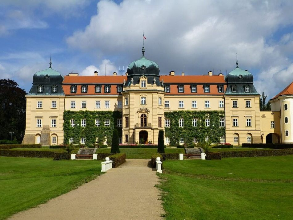 The Lany Castle west of Prague is the summer residence of Czech presidents