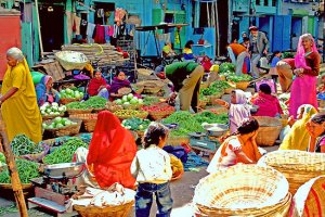 "Udaipur Market in Rajasthan. Photo: Amos Rojter or ""Brother Amos."" Source: Redbubble.com"
