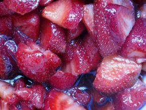 Macerated strawberries. Source: PeaceAndLoveInTheKitchen.com